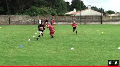 Rugby exercise Duel in 1+1v1