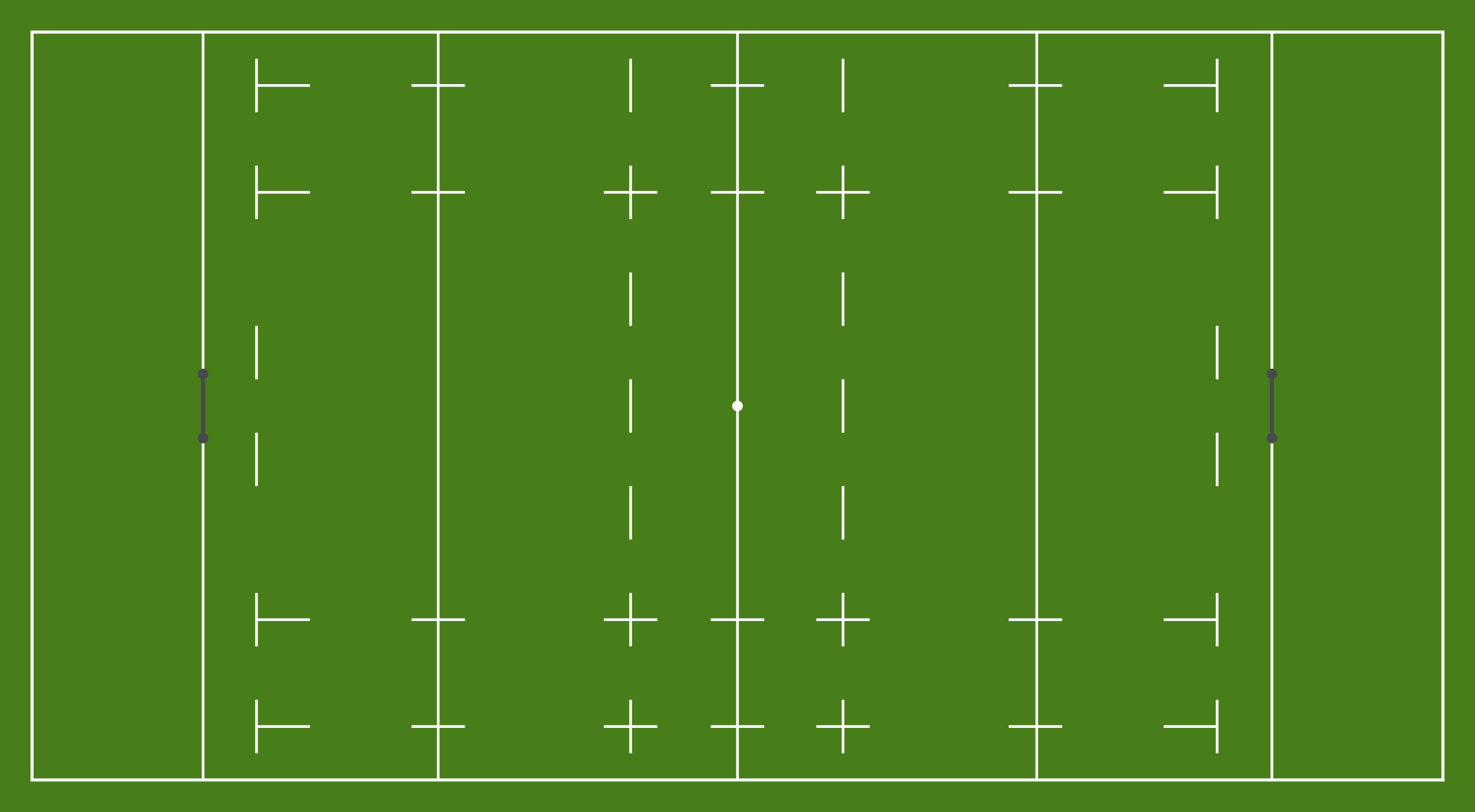 Rugby pitch drawing